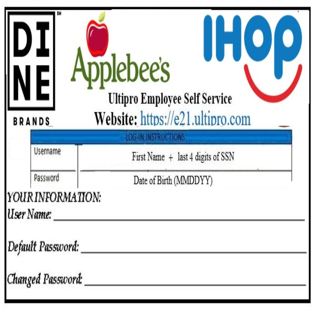 Applebee's Pay Stubs & W2s | MY PAY LOGIN