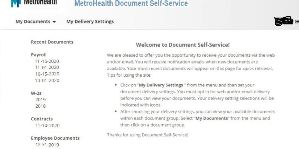 Metrohealth Pay Stubs & W2s
